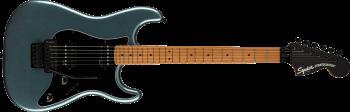 Fender Squier Contemporary Stratocaster HH FR, Roasted Maple Fingerboard, Black Pickguard, Gunmetal Metallic