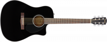 Fender CD60SCE Dreadnought, Walnut Fingerboard, Black  SPEDIZIONE GRATUITA!!!