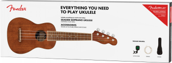 Fender easide Soprano Ukulele Pack, Walnut Fingerboard, Natural