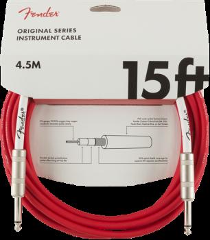 Fender Original Series Instrument Cable, 15', Fiesta Red 4,5 metri