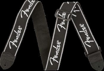 Fender Running Spaghetti Logo Strap, Black