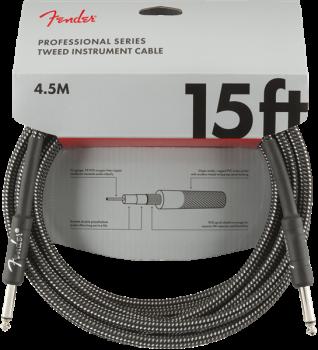 Fender Professional Series Instrument Cable, 15', Gray Tweed  4,5 metri