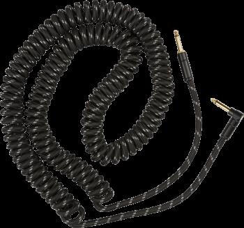 Fender Deluxe Coil Cable, 30', Black Tweed mt 9 Cavo per Chitarra