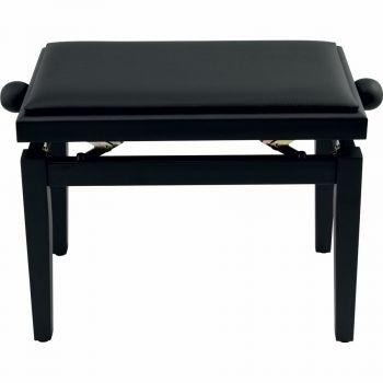 QUIK LOK PB100BK L panca per piano nera con seduta in sky nero - Finitura in nero lucido