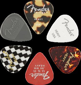 Fender 351 Shape, Material Medley, Heavy, confezione da 6 Plettri