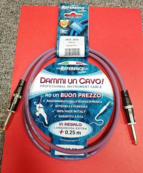 """Reference """"Dammi Un Cavo"""" Cavo professionale per strumenti jack jack 1,25 metri"""
