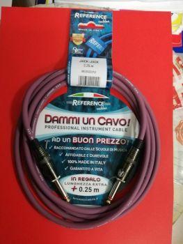"""Reference """"Dammi Un Cavo"""" Cavo professionale per strumento jack jack 2,25 metri"""