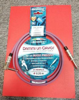 """Reference """"Dammi Un Cavo"""" Cavo professionale per strumento jack dritto jack ad angolo 1,25 metri"""