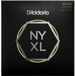 D'Addario NYXL45105, Set Long Scale, Light Top / Med Bottom, 45-105