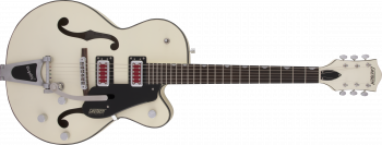 "Gretsch G5410T Electromatic ""Rat Rod"" Hollow Body Single-Cut with Bigsby, Rosewood Fingerboard, Matte Vintage White"