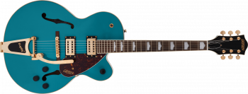 Gretsch G2410TG Streamliner Hollow Body Single-Cut with Bigsby and Gold Hardware, Laurel Fingerboard, Ocean Turquoise