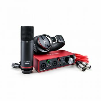 FOCUSRITE Scarlett 2i2 Studio Pack 3rd Gen Interfaccia Audio USB Cuffie e Microfono