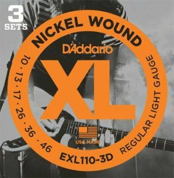 D' addario EXL110-3D 3 MUTE CORDE ELETTRICA 10-46
