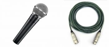Shure SM58-LCE + Cavo Reference Young GN mt. 4