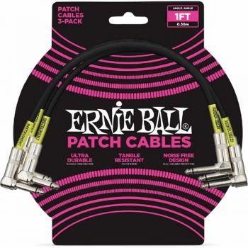 Ernie Ball 6075 Cavo per strumenti da cm 30 set di 3 pezzi