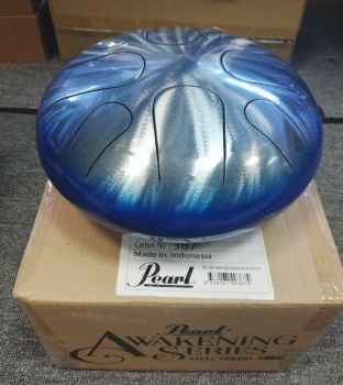 Pearl Tongue Drum PMTD8GMF 8 Note G Major	#687 Natural Blue Fade