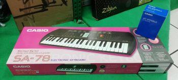CASIO SA-78 Tastiera con 44 Minitasti con Alimentatore