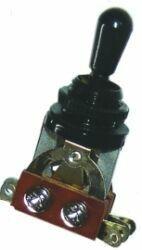 BTG BK - Selettore 3 posizioni tipo Gibson - Nero pomello Nero