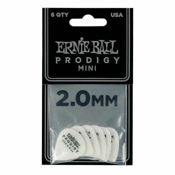 Ernie Ball 9203 Confezione di 6 plettri Prodigy White mini da 2.0 mm
