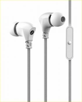 Gavio Metallon Zinc cuffie auricolari metalliche con microfono bianchi