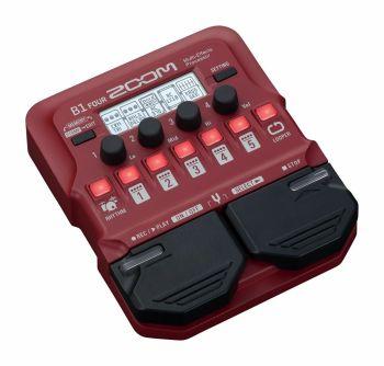 Zoom B1 FOUR - pedaliera multieffetto, amp-simulator per basso