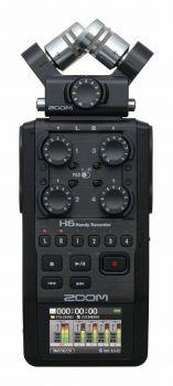 ZOOM H6 BLK Registratore Palmare a 6 Tracce + Zoom APH-6 - Kit accessori