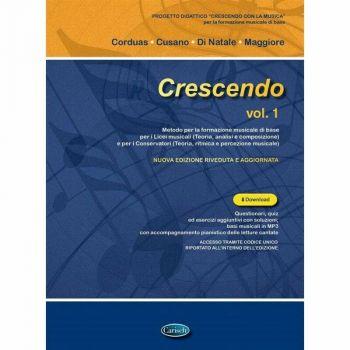 CRESCENDO VOL. 1 - CORDUAS, CUSANO, DI NATALE + AUDIO ONLINE - TEORIA MUSICALE