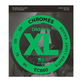 D'Addario ECB80 Chromes Bass, Light, 40-95, Long Scale