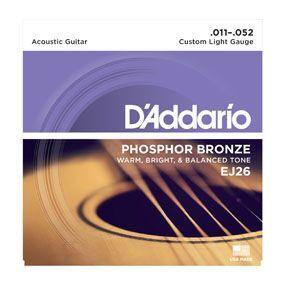 D'ADDARIO EJ26 CUSTOM LIGHT PHOSPHOR BRONZE ROUND WOUND 011 52