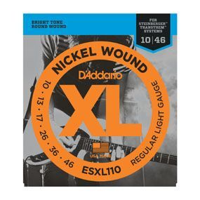 D'ADDARIO ESXL110 Nickel Wound, Regular Light, Double BallEnd