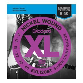 D'ADDARIO EXL120BT Nickel Wound Super Light, 09-40