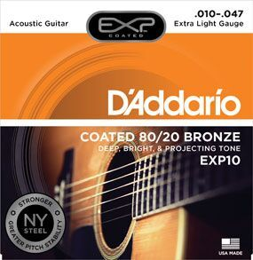D'Addario EXP10 EXP COATED 80/20 EXTRA LIGHT 010-047