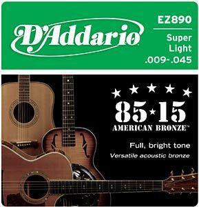 D'Addario EZ890 Super light 009-045