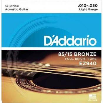 D'ADDARIO EZ940 D'ADDARIO LIGHT 12-STRING