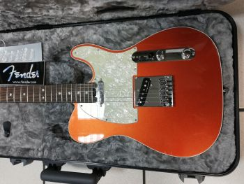 Fender American Elite Telecaster RW Chitarra Elettrica Autumn Blaze Metallic Usata