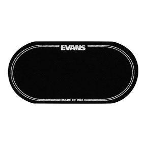"""Evans EQPB"""" EQ Black Nylon Double Patch confezione da 2 pezzi per doppio pedale"""