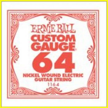 Ernie Ball 1164 - corda .064 - avvolgitura in acciaio nichela