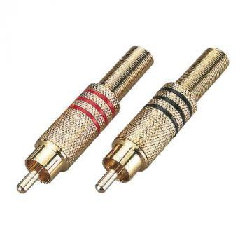 SOUNDSATION SRCA01M-B Connettore RCA maschio in metallo