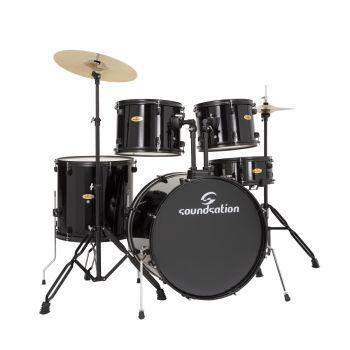SOUNDSATION EDK22B-BK Drum Set 5 pcs in Pioppo con finitura rivestita Black