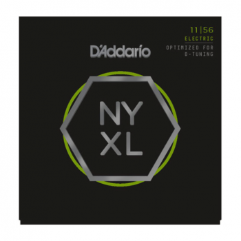 D'Addario NYXL1156 Nickel Wound, Medium Top / Extra-Heavy Bottom, 11-56