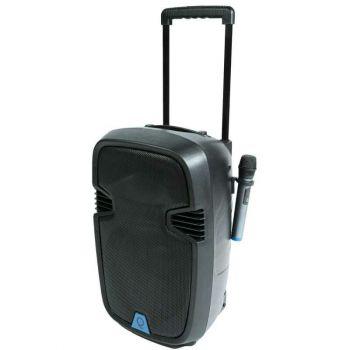 Oqan QLS-12 Travel Wireless Cassa portatile trolley a batteria + 2 radiomicrofoni