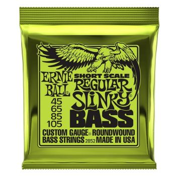 Ernie Ball 2852 Nickel Wound Scala corta  45 - 105
