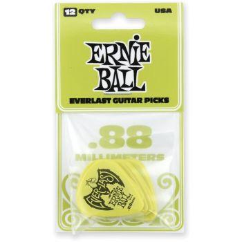 Ernie Ball 9191 Confezione da 12 di robusti plettri in Delrin .88mm