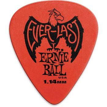 Ernie Ball  9194 Plettri Everlast Red 1.14mm Busta da 12