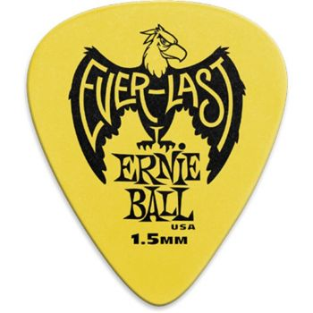 Ernie Ball - 9195 Plettri Everlast Yellow 1.5mm Busta da 12