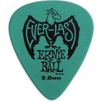 Ernie Ball - 9196 Plettri Everlast Teal 2.0mm Busta da 12