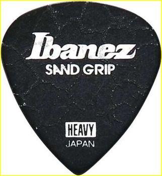 "Plettro Ibanez PA16HCG-BK plettro H grip sabbiato ""Cracked"" nero"