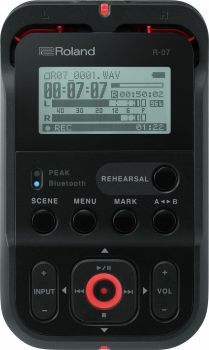 Roland R07 BK Black High Resolution Audio Recorder