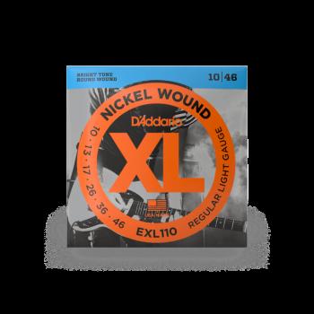 D'Addario EXL110-10P , Nickel Wound, Regular Light, 10-46, 10 mute