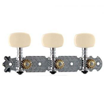 SOUNDSATION SMH-SS-C-3R3L Meccaniche per chitarra classica cromate con perno in metallo